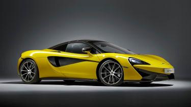 McLaren 570S Spider - front roof up