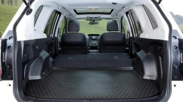 Subaru Forester interior rear space boot