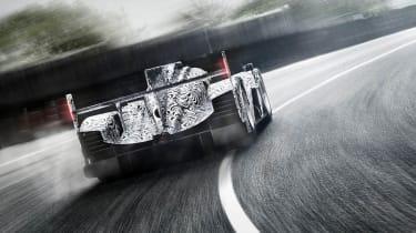 Porsche LMP1 Le Mans car rear view