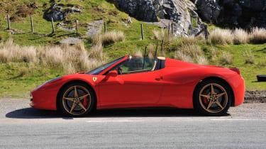 Best convertible cars: Ferrari 458 Spider