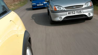 Mini Cooper vs Ford Fiesta Zetec S vs Peugeot 106 Rallye