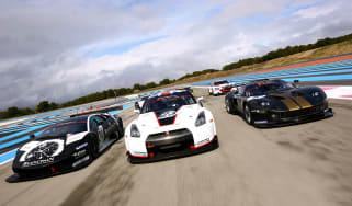 GT1 racing Murcielago, GT-R and Ford GT