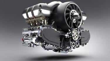 Singer - Williams collab - engine shot 1