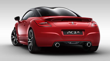 Peugeot RCZ R rear spoiler red