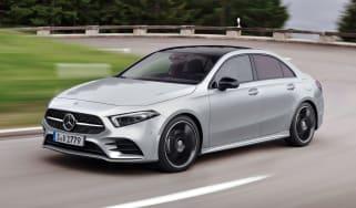 Mercedes-Benz A-class saloon – front quarter