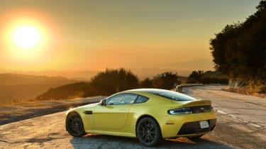 Aston Martin V12 Vantage S sunset