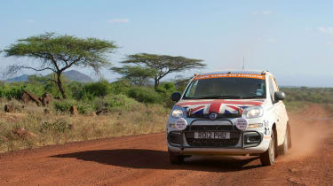 Fiat Panda beats the Cape Town to London record