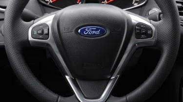 2013 Ford Fiesta ST steering wheel dashboard