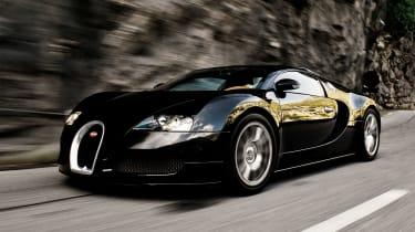 Bugatti Veyron front black