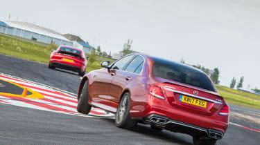 Mercedes-AMG E63 S & Porsche Panamera Turbo - on track
