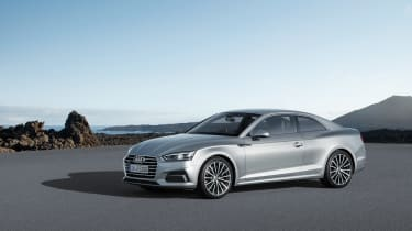 Audi A5 coupe silver - studio front