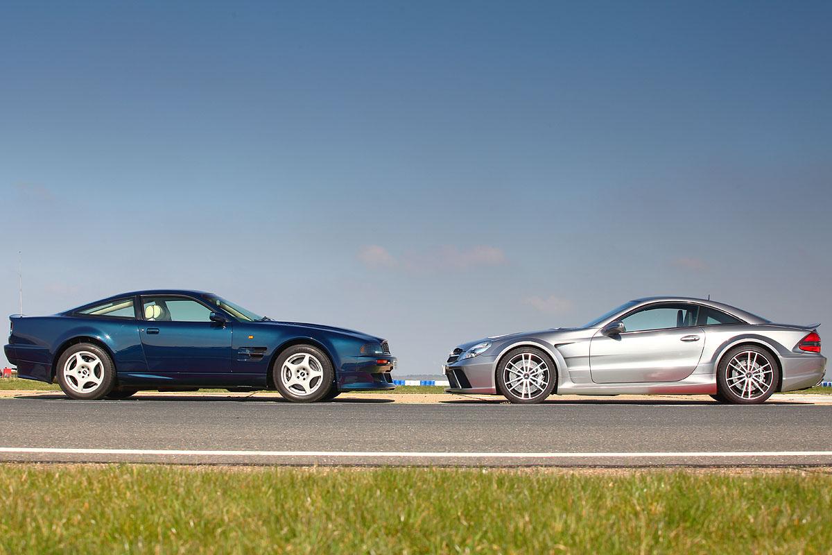Aston Martin Vantage 600 V Mercedes Sl65 Black Evo