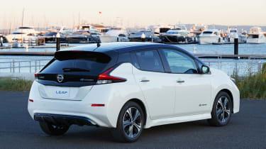 Nissan Leaf drive Japan - rear quarter