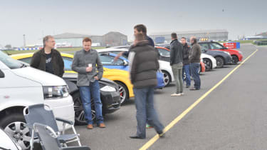 Meet the evo team at evo Donington Park Drive-in