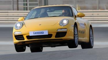 Porsche 911 on two wheels