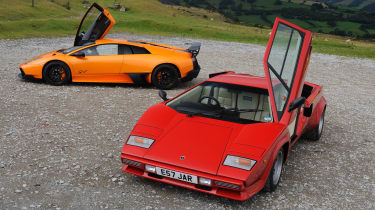 Lamborghini V12 group test Wales - static