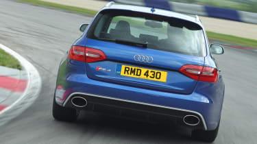 Audi RS4 Avant blue rear