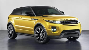 Range Rover Evoque Sicilian Yellow Limited Edition front view