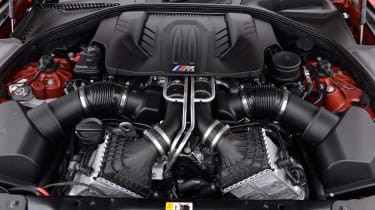 BMW M6 Competition Package twin-turbo V8 engine