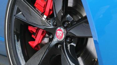 Jaguar F-type Project 7 black alloy wheel