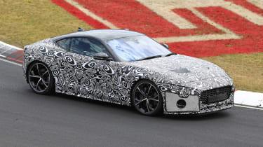 Jaguar F-type facelift spied front three quarters