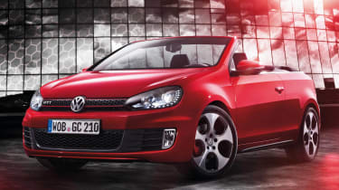 VW Golf GTI Cabriolet red