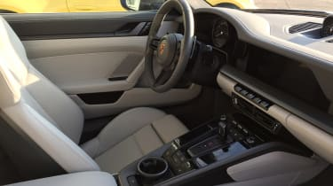 Porsche 911 on location - interior