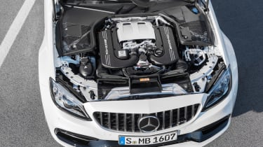 Mercedes-AMG C 63 S Coupe - white engine bay