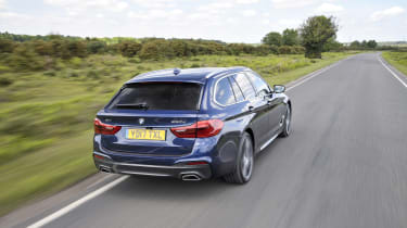 BMW 530d xDrive Touring tracking rear