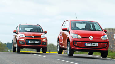 Volkswagen Up vs Fiat Panda TwinAir