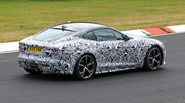Jaguar F-type facelift spied rear three quarters