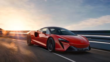 McLaren Artura revealed - orange front tracking