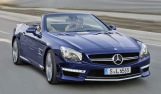 2013 Mercedes SL65 AMG front roof down