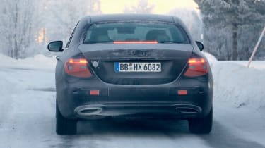 Updated 2019 Mercedes E-class spied – rear