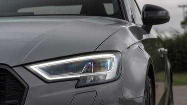 Audi RS3 Saloon - headlight closeup