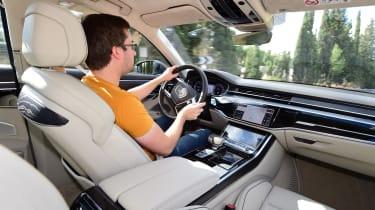 Audi A8 - interior driver shot