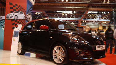 Suzuki Swift Sport SZ-R at Autosport show