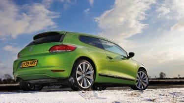 VW Scirocco rear, green