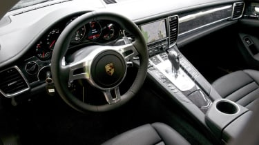 Porsche Panamera V6 inside from outside