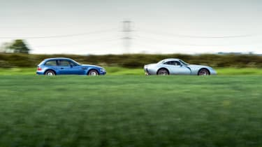 TVR Tuscan and BMW M Coupe side