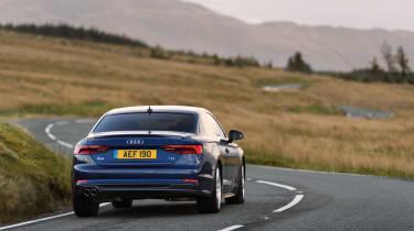 Audi A5 coupe blue - rear 2