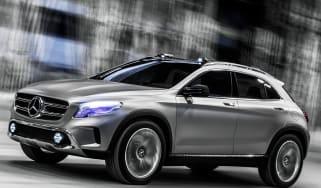 Mercedes GLA concept driving