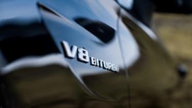 Mercedes-AMG C63 S Coupe black - badge