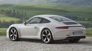 Porsche 911 50 Years Edition grey rear view
