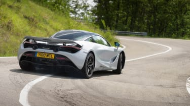 McLaren 720S in Italy - corner