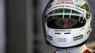 Audi's Allan Mcnish at Le Mans 24 hours