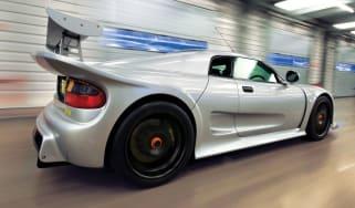 Noble M12 GTO silver rear driving