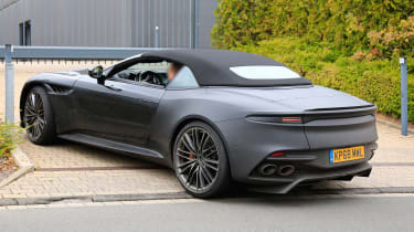 Aston Martin DBS Volante spy - OCT18 rear quarter