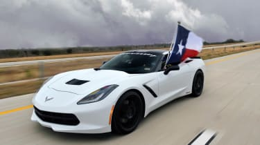 Corvette Stingray Hennessey 200mph video record