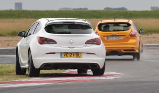 2012 Ford Focus ST vs Vauxhall Astra VXR video